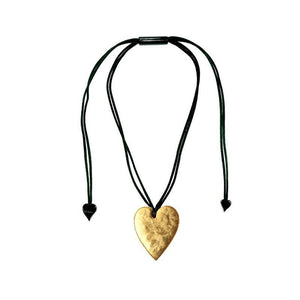 5060204G000Q00 Heart Small Gold G000 (Adj Cord)