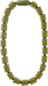 60101229190Q23 122 colorfucubes2 Green bead /brown cord #