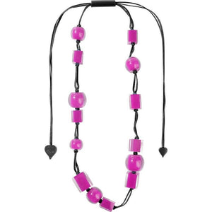 60101239017Q14 123 colorfucubes2 pink bead /Black cord
