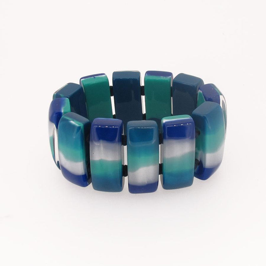 6010310MP11Q12 COLOURFULCUBE Blue turquoise marble #