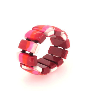 6010310MP12Q12 COLOURFULCUBE red pink marble #