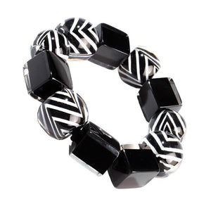 6230301BWHIQ0L 301 Chevron Black/White L