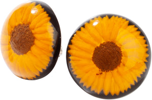 2290502SUNFQ00 earring FRIDA 1bead pin, sunflower