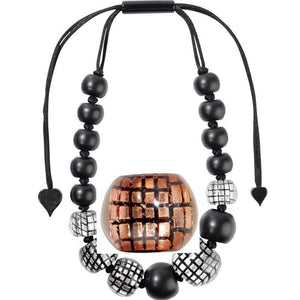 8190101C001Q16 CITY BEADS copper/Black (adj) #