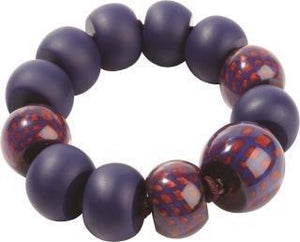 8190301BREDQ12 CITY BEADS purple/marine/red M #