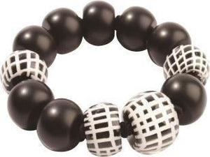 8190301BWHIQ13 301 CITY BEADS Black/White L