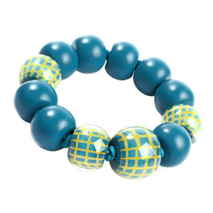 8190301TYELQ13 301 CITY BEADS turquoise/Yellow L