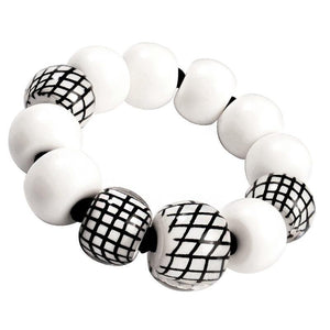 8190301WBLAQ12 301 CITY BEADS White/Black M
