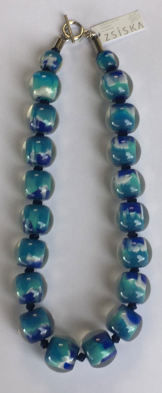 4010103MP11Q20 Colourful Beads BlueturqMarble MP11 Q20 #