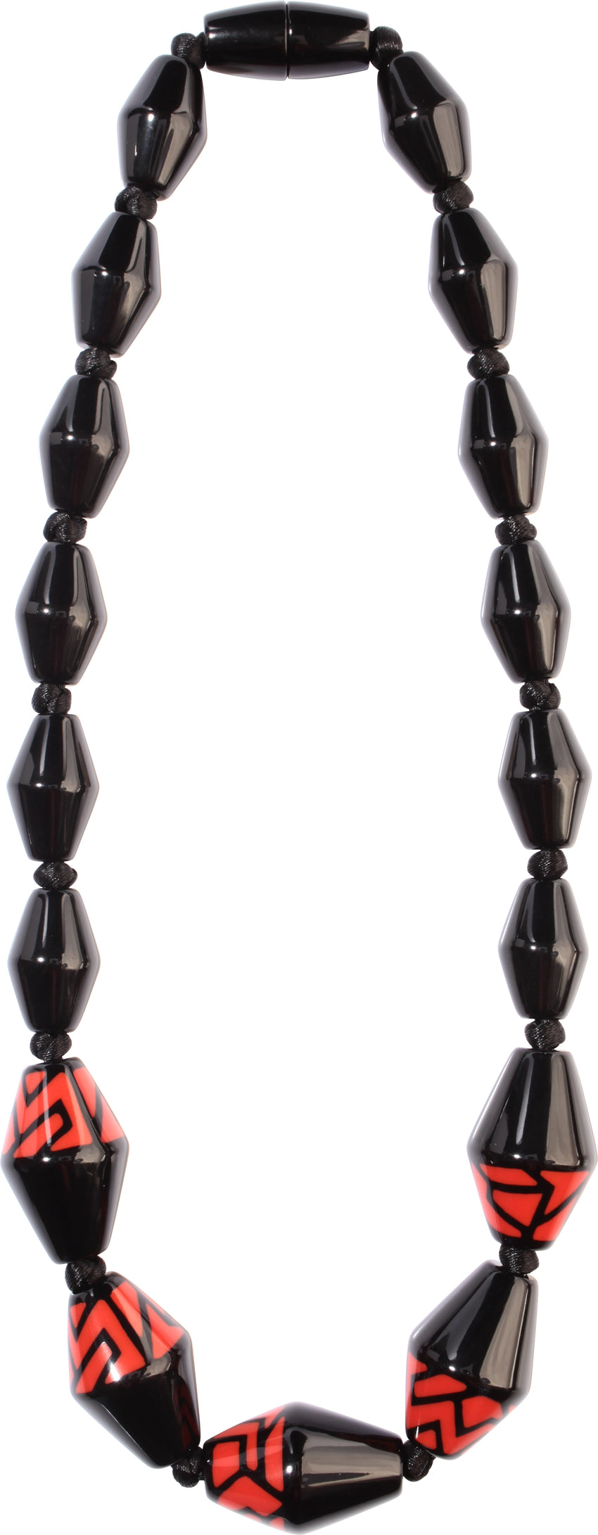 3260101BREDQ17 NYC Necklace 101 Black Red Q17