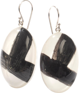 3290502WHITQ00 earring GRAFFITI 1bead shorthook, white