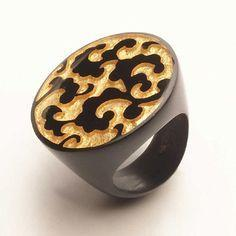 2070602S001Q0S Ring BARROQUE gold/black