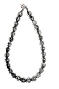 4010107MP17Q30 Necklace 107 MARBLE white/grey/blk Q30