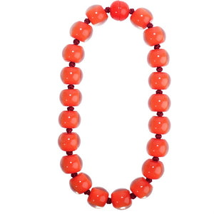 40101179013Q20 Colourful Beads Necklace 117 Red/9013 Q20