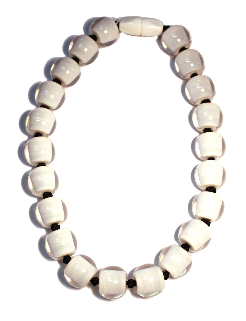 40101179037Q20 Colourful Beads Necklace 117  White/ 9037 Q20