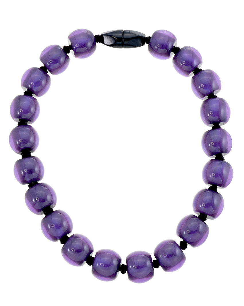 4010117necklace COLOURFULBEADS 20beads magnet, purple