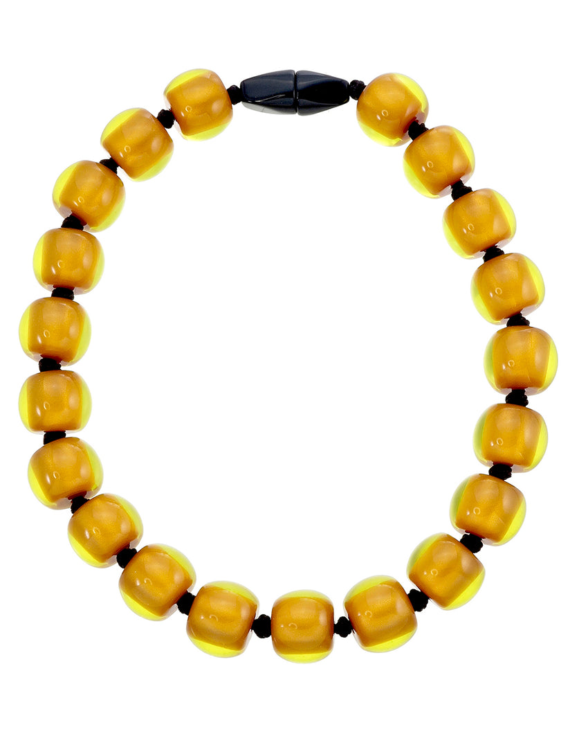 4010117necklace COLOURFULBEADS 20beads magnet, orange