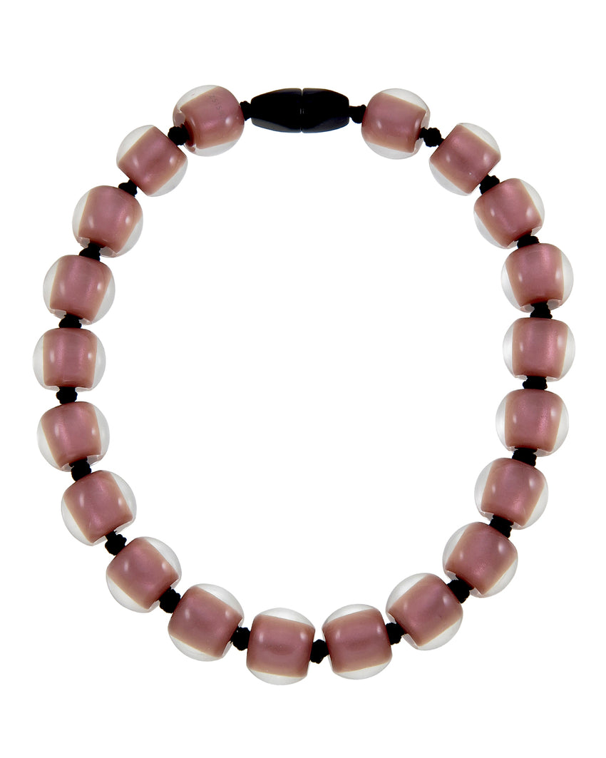40101179198Q20 Colourful Beads Necklace 117 Rose Gold 9198 Q20