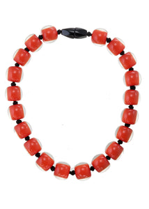 40101319206Q20 necklace COLOURFULBEADS 20beads lock, orange
