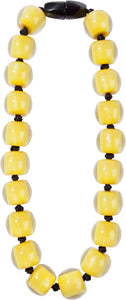 40101319214Q20 necklace COLOURFULBEADS 20beads magnet, mustard