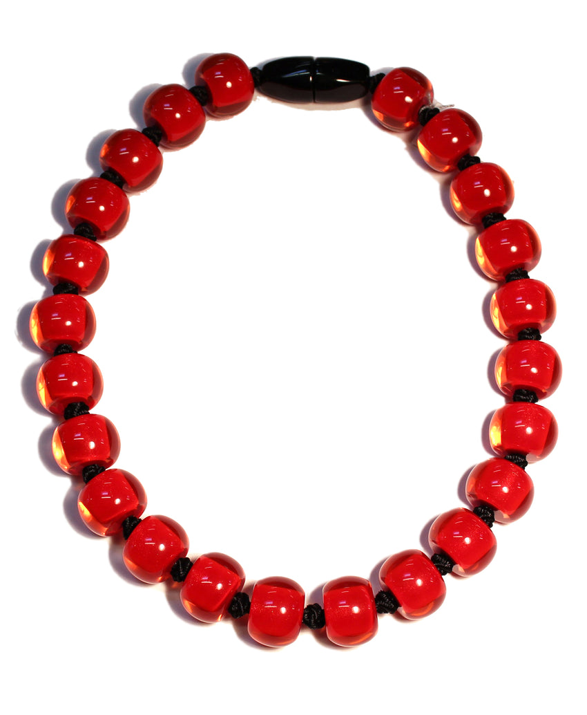 40101189013Q23 Colourful Beads Red Beads Black Cord 9013 Q23