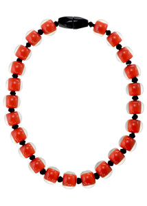 40101329206Q23 necklace COLOURFULBEADS 23beads lock, orange