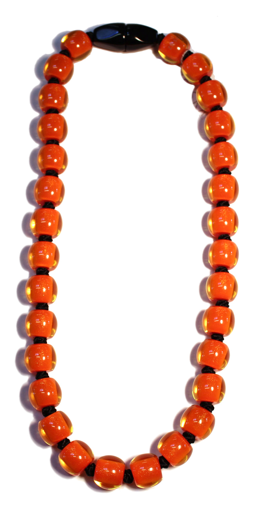 40101199016Q30 Colourful Beads Orange Bead Black 9016 Q30