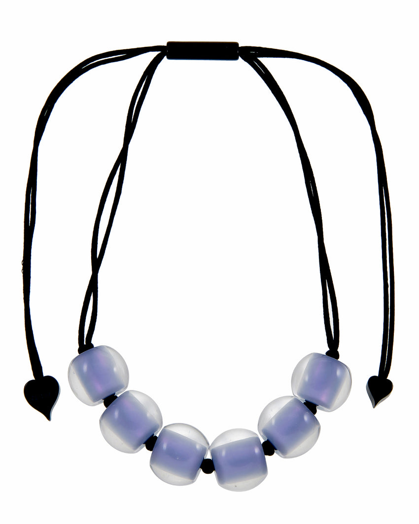 40101209199Q06 Colourful Beads Necklace 120 Lavander 9199 Q06