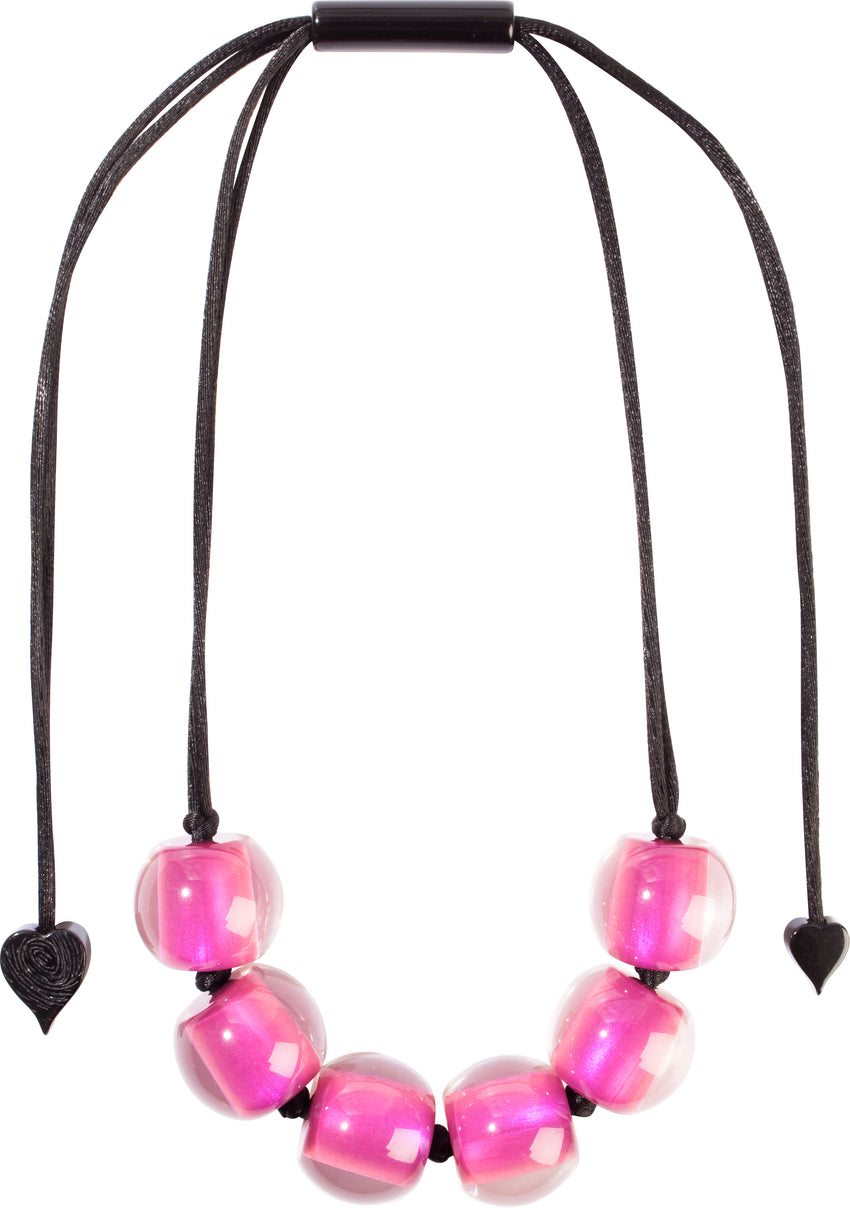 40101209200Q06 Colourful Beads Necklace 120 Pink 9200 Q06
