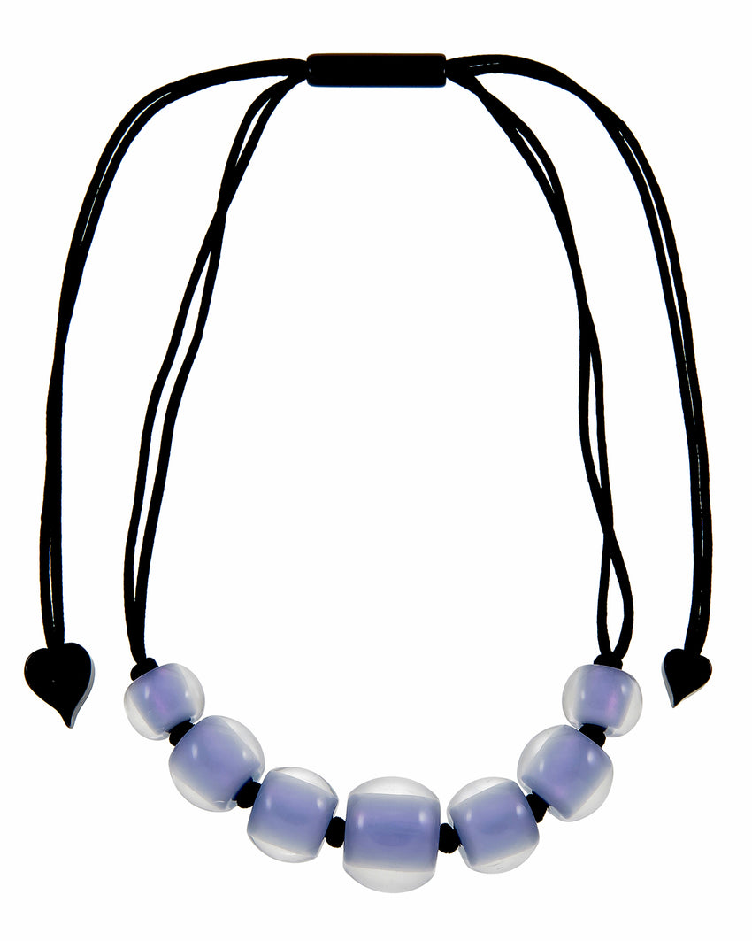 40101219199Q07 Colourful Beads Necklace 121 Lavander 9199 Q07