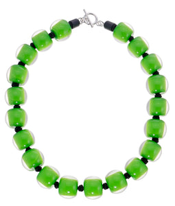 40101319113Q20 necklace COLOURFULBEADS 20beads lock, green