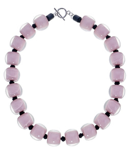 40101319225Q20 necklace COLOURFULBEADS 20beads lock, purple