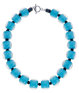 40101319226Q20 necklace COLOURFULBEADS 20beads lock, turquoise