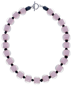 40101329225Q23 necklace COLOURFULBEADS 23beads lock, purple