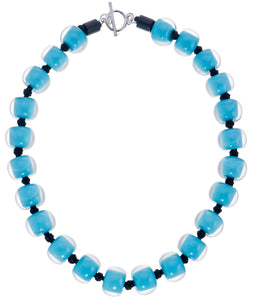 40101329226Q23 necklace COLOURFULBEADS 23beads lock, turquoise