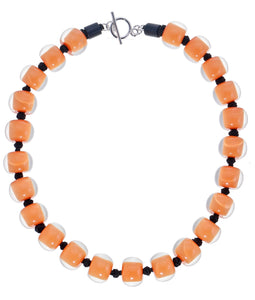 40101329228Q23 necklace COLOURFULBEADS 23beads lock, orange