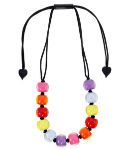 40101390400Q12 necklace COLOURFULBEADS 12beads adjust, spectrum