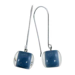 4010502BP01Q00 earring COLOURFULBEADS 1bead longhook, navy