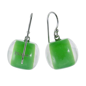 40105039113Q00 earring COLOURFULBEADS 1bead shorthook, green