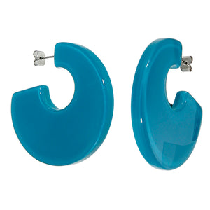 40105249226Q00 earring COLOURFUL STATEMENT 1bead pin, turquoise