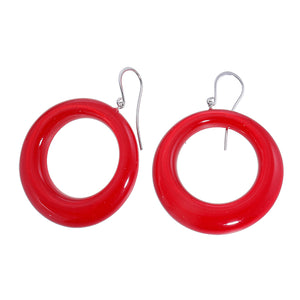 40105309203Q00 earring COLOURFUL STATEMENT 1bead shorthook, red