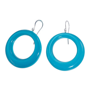 40105309226Q00 earring COLOURFUL STATEMENT 1bead shorthook, turquoise
