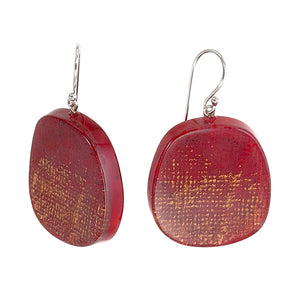 4300503REDCQ00 earring VENUS 1bead shorthook, red