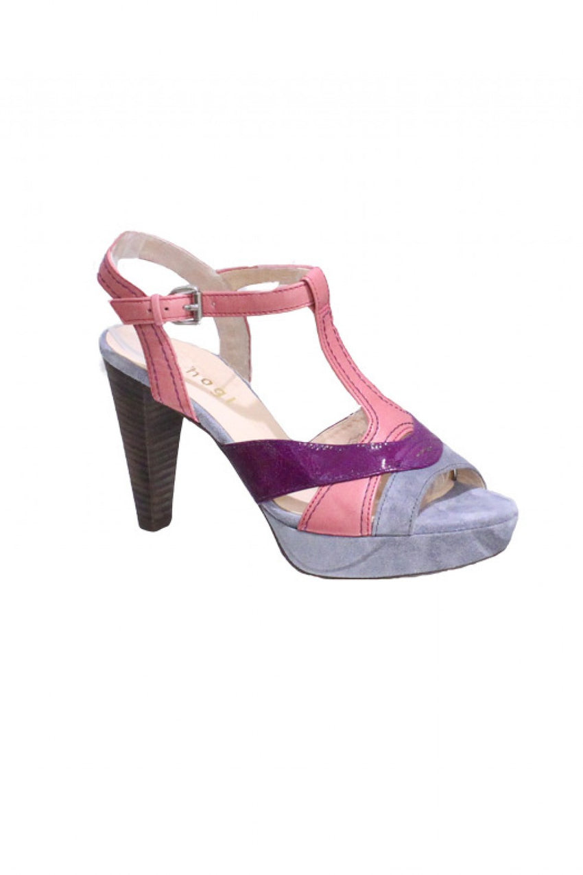 Purple Combo Hogl Sandal Heel Style and Grace