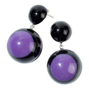 2220501PUREQ00 Earring SIXTIES purpl/blk drop std