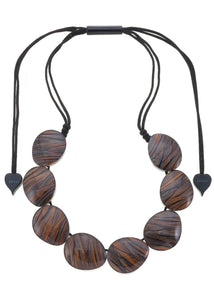 5260101necklace EDEN 8beads adjust, rust