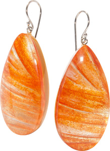 5260502ORANQ00 earring EDEN 1bead shorthook, orange