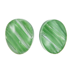 5260503GREEQ00 earring EDEN 1bead pin, green