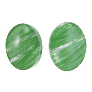 5262701GREEQ00 earring EDEN 1bead clip, green