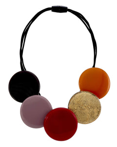 6260101WARMQ05 (A)Round Necklace 101 Red Mauve Combination Q05